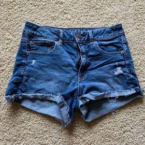 Super stretch jean shorts